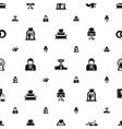 ceremony icons pattern seamless included editable vector image vector image