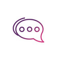 chat bubble network social media icon line vector image