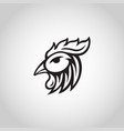 chicken logo icon vector image vector image