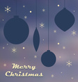 Christmas retro poster template vector image vector image