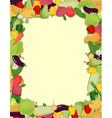 Colorful vegetable frame healthy food concept vector image vector image