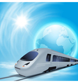 Concept background with high-speed train vector image vector image