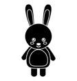 cute rabbit animal standing cartoon wildlife vector image