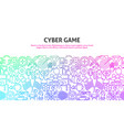cyber game concept vector image vector image