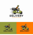 delivery logo design template vector image vector image