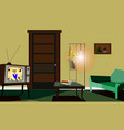 design of the room in the old style vector image vector image