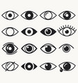 eyes icon set on white background vector image