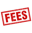 fees square stamp vector image vector image