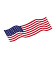 flag american icon vector image