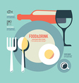 foods and drink template modern minimal flat vector image vector image