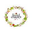 garden wreath vector image vector image