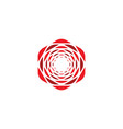 geometric rose flower icon logo design vector image vector image