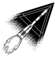 graphic launching rocket vector image