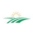 green field farm icon design template vector image vector image