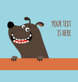greeting card with happy dog vector image vector image