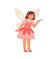 happy girl in pixie or fairy costume vector image vector image