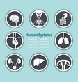human systems icon vector image