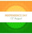indian independence day greeting card vector image