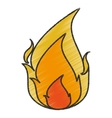 Isolated flame design vector image vector image