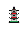 japan architecture symbol icon on white background vector image