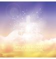 jesus is risen easter vector image vector image