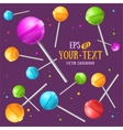 Lollipop Sugar Candy Background vector image vector image