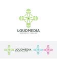 loud media logo design vector image vector image
