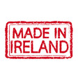 made in ireland stamp text vector image vector image