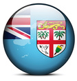 Map on flag button of Republic of Fiji vector image vector image
