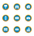 medical build icons set flat style vector image vector image