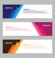 modern horizontal banners set vector image vector image