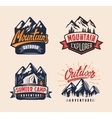 mountain badge vector image vector image