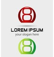 Number eight 8 logo icon template elements vector image vector image