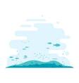 ocean bottom flat background vector image vector image