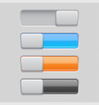 On and off toggle switch buttons colored 3d icons
