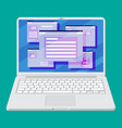 operating system user interface on laptop vector image