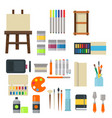 painting art tools palette icon set flat vector image