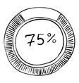 Percent showing infographics hand drawn style vector image vector image