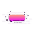 pink gradient speech bubble on white background vector image vector image