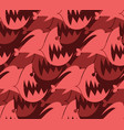 piranha seamless pattern marine predator fish vector image vector image