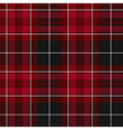 Pride of wales fabric texture red tartan seamless vector image vector image