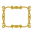 rope frame vector image vector image