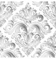 seamless oriental pattern with 3d elements vector image