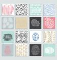 Set 16 creative pastel cards