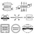 set of arrows design elements vector image