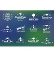set of beach sea bar elements and summer can vector image