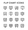 set of flip chart office icons icons for all vector image vector image