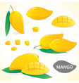 Set of mango in various styles and format vector image