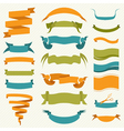 Set of retro ribbons and arrows banne vector image