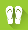 simple flip flop icon travel and holiday symbol vector image
